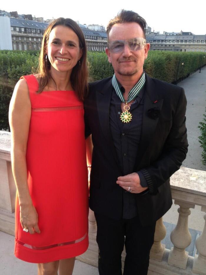 Bono e Aurelie Filippetti